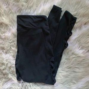 Forever 21• black creosote cross leggings